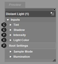 Root Distant Light Brick