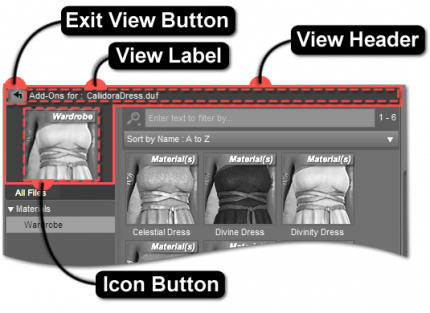 Add-On Assets View